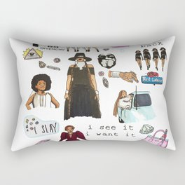 Queen Bey Formation Tribute Rectangular Pillow