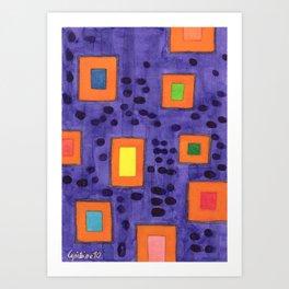 Illuminated Frames Art Print