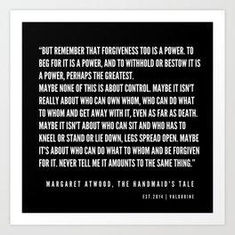 12     The Handmaid's Tale Quote Series    190610 Art Print