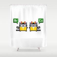 Breaking Cat Shower Curtain