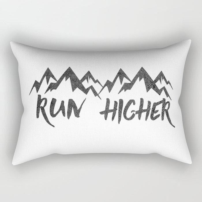 Run Higher  Rectangular Pillow