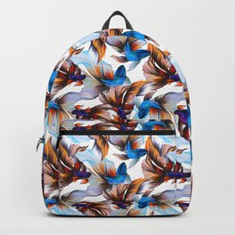 Veiltail Goldfish Pattern Backpack