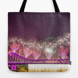 Brisbane riverfire Tote Bag