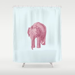 Pink elephants and the emperor of icecream Shower Curtain