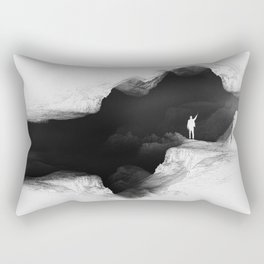Hello from the The White World Rectangular Pillow