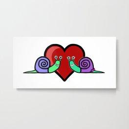 Snail Couple Metal Print