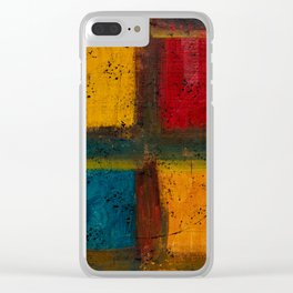 4 Square (Abstract) Clear iPhone Case