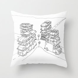 we are at a crossroads Throw Pillow