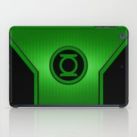 green lantern iPad Cases featuring Green Lantern by MiliarderBrown