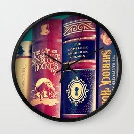 Library of Sherlock Holmes Wall Clock