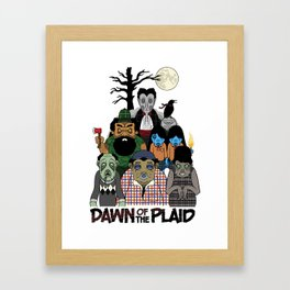 Dawn of the Plaid Framed Art Print