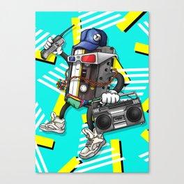 I Am The 80s Retro Design Canvas Print