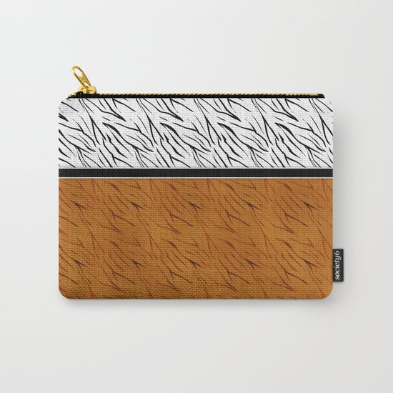 Yellow black tiger pattern . Carry-All Pouch