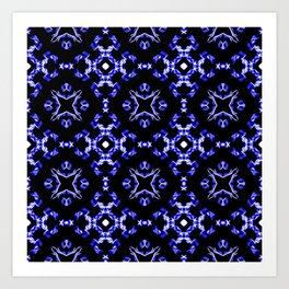 Blue Bandana Pattern Art Print