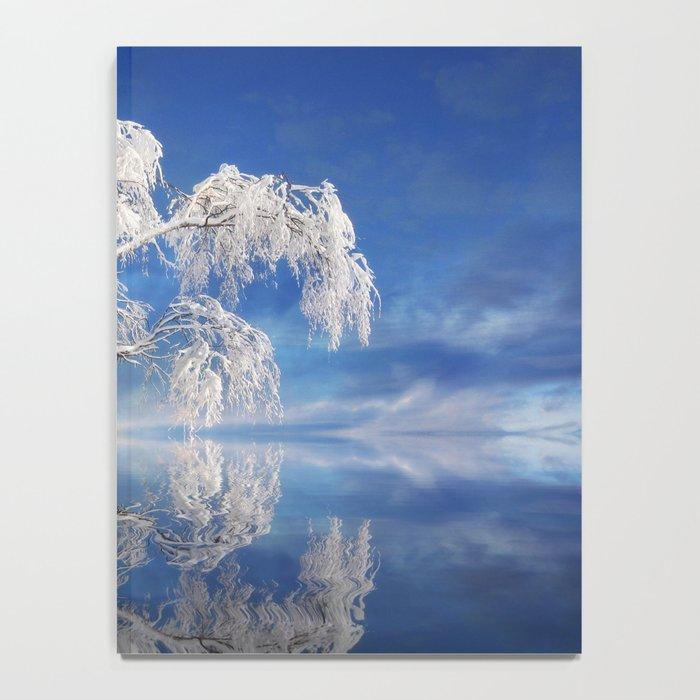 Snowy Winter Tree Notebook