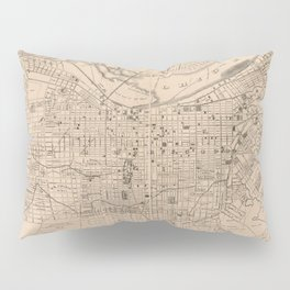 Vintage Map of Louisville Kentucky (1873) Pillow Sham