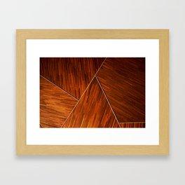 Geometric Grain Framed Art Print