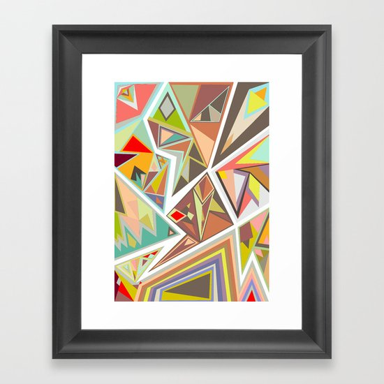 Shattered Glass Framed Art Print