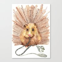 hamster Canvas Prints featuring Hamster by Creative Stace