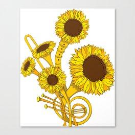 Sunflower Orchestra Canvas Print