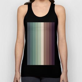autumn season color pattern - striped fall colors Unisex Tank Top