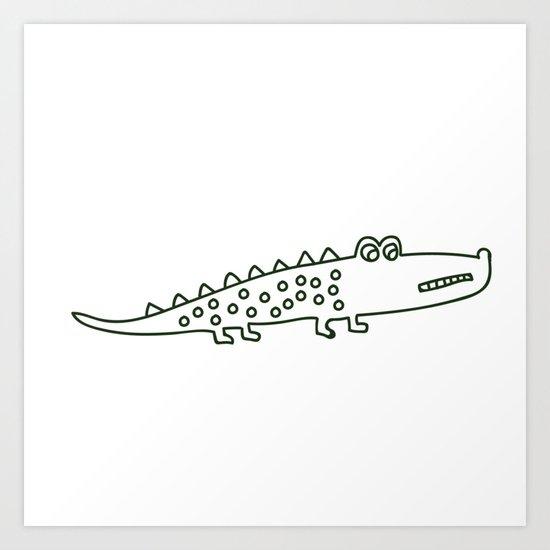 Crocodile 1 Art Print