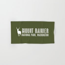 Deer: Mount Rainier, Washington Hand & Bath Towel