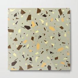 Retro Terrazzo - Vintage Colors - Marble Speckles - Granite Texture Metal Print
