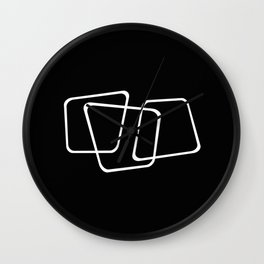 Simply Minimal 2 - Abstract, black and white Wall Clock