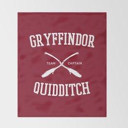 Hogwarts Quidditch Team: Gryffindor Throw Blanket