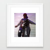 minaj Framed Art Prints featuring Oooo Drag on by Emily Lomax