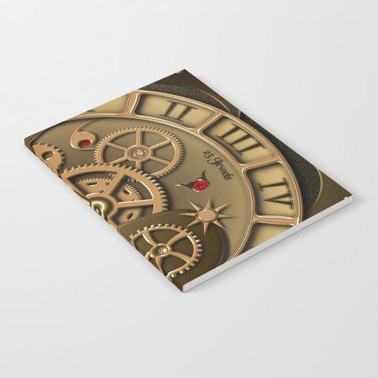 Steampunk clock gold Notebook