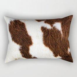 Cowhide Brown Spots Rectangular Pillow