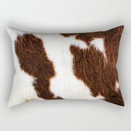 Cowhide Brown Spots Rectangular Pillow