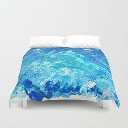 Aqua Ocean Blue Duvet Cover