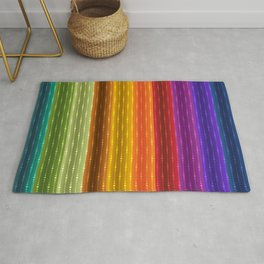Jewel Tone Color Stripes Rug