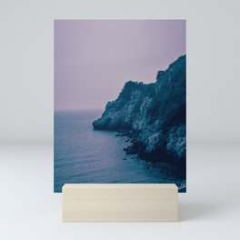 Nightfall on the Coast. Rocky Cliffs at Dusk. Nature Photography. Mini Art Print