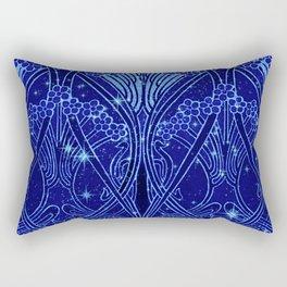 An Art Nouveau Night Sky Rectangular Pillow