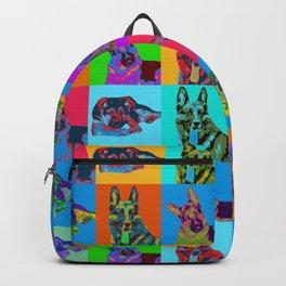 German Shepherd Dog - Pop Art Grid Backpack