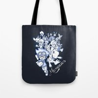 digimon Tote Bags featuring Digimon Memories by Cursed Rose