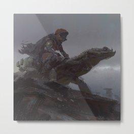 lizard rider rapid Metal Print
