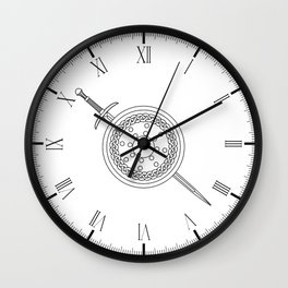 Claymore and Shield Outline Wall Clock