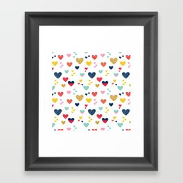 cheerful hearts Framed Art Print