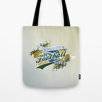 football Tote Bags featuring Football  by ArtAngelo