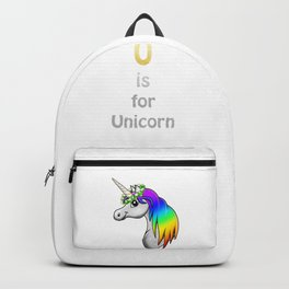 U is for Unicorn Backpack