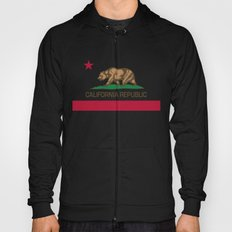 California Republic Flag, High Quality Image Hoody