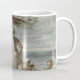 Vintage Raiding Vikings Painting (1873) Coffee Mug