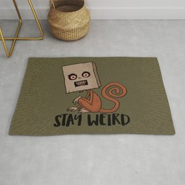 Stay Weird Sack Monkey Rug