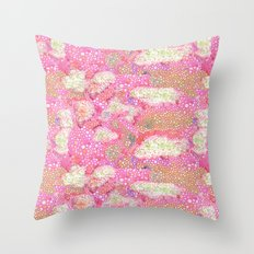 Pink Cell Walls Watercolor Pattern Throw Pillow