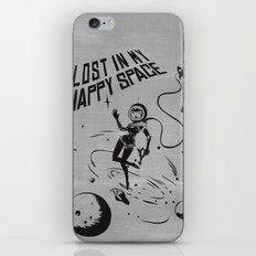 Lost In My Happy Space, grey iPhone & iPod Skin